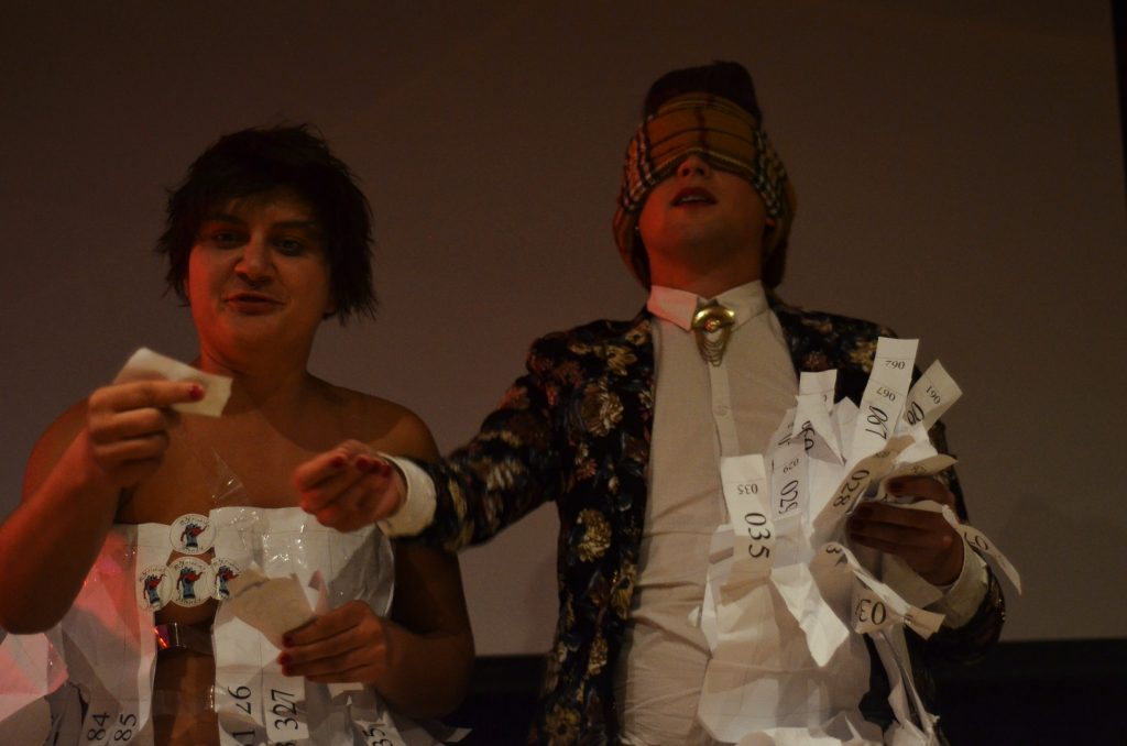 ...the drawing of the raffle with Adele Nedelcu and Bradley Tuck.