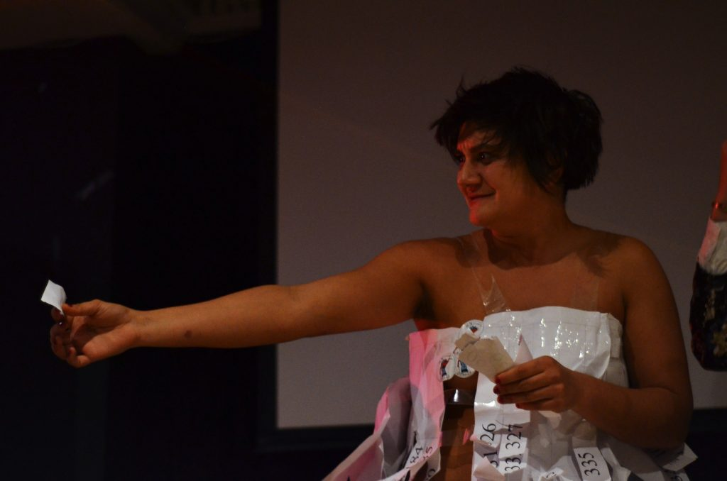 ...the drawing of the raffle with Adele Nedelcu.
