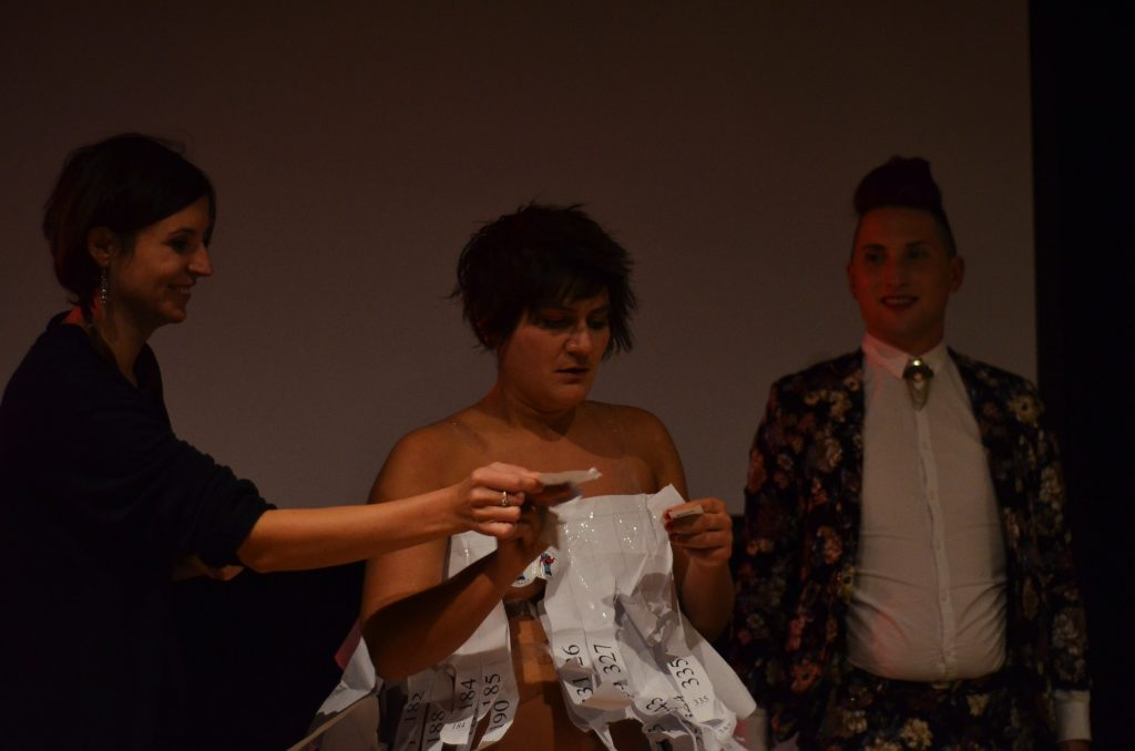 ...the drawing of the raffle with Catalina Z. Balan, Adele Nedelcu and Bradley Tuck.